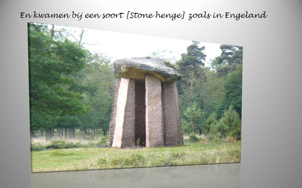 En kwamen bij een soort [Stone henge] zoals in Engeland